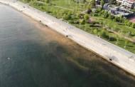 Kadıköy'de Turuncuya Bürünen Deniz Havadan Görüntülendi